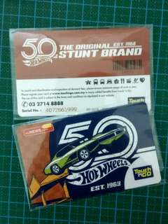 Hot wheels touch and go card