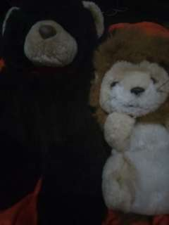 Cuddly teddy bear and a lion Bundle 70 only