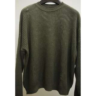 KAPITAL 17SS DISTRESSED RIBBED COTTON LINEN SWEATER 1 USED