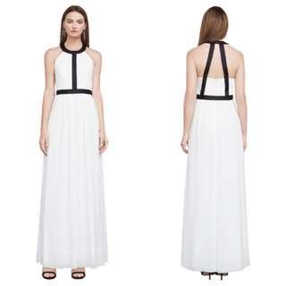 Bcbg 掛頸白色長紗裙(可租)
