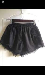 Black Boho Shorts