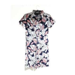 Floral Office Knot Dress