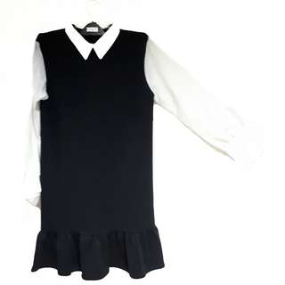 Scuba Mix Cotton Formal Dress