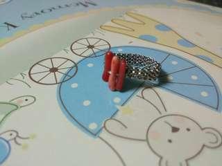 全新地中海紅珊瑚編織戒指Red coral knitted ring