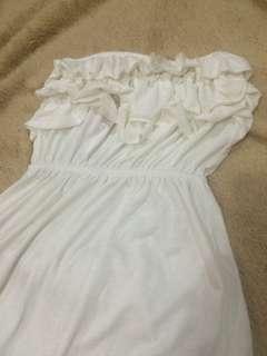 Beach White Tube Dress