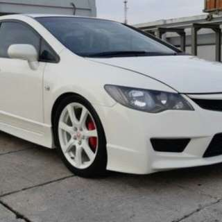 HONDA CIVIC TYPE R FD2R WHITE ON RED 2007