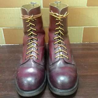 (Reduced)⏬Dr. Martens 10 Eye Steel Toe Boots