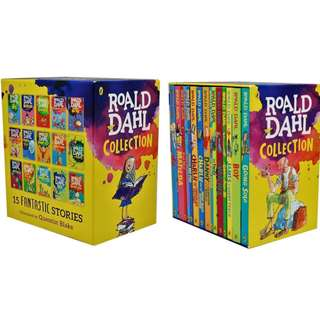 Roald Dahl Collection - 15 Paperback Book Boxed Set ( Brand New )
