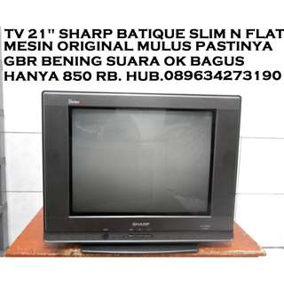 Sharp Batique ULtra SLim N FLat 21 inc MULUS Ori Bandel KATAPANG SOREANG