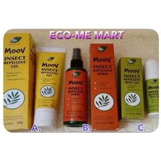 (限時優惠) 澳洲 Ego Naturals MOOV 純天然植物成份🌿 驅蚊啫喱(100g)/噴霧(120ml)/走珠(50ml),