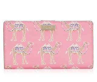 Kate Spade NY Stacy Wallet: Liberty Street Camel Party Pink Multi