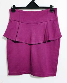 Purple Peplum Skirt