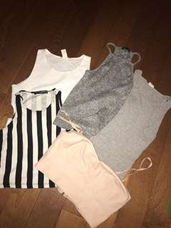 Summer crop tank BUNDLE size xs/s