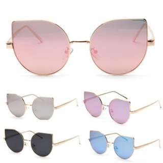 [PO469]Women's Cat Eye Retro Big Frame Sun Glasses