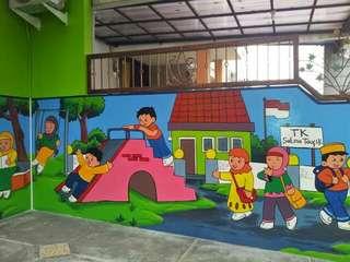 "Lukisan untuk taman kanak"""