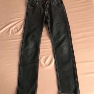 H&M skinny fit, size 11-12 yrs old with adjustable garter