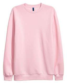 H&M Pink Unisex Sweatshirt