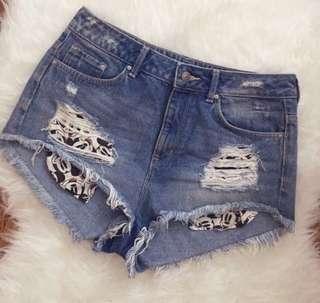 H&M Denim High Waisted Shorts
