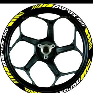 Aerox NVX rim sticker decal