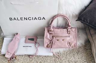 Balenciaga Classic GHW Mini City Bag in Lambskin Leather