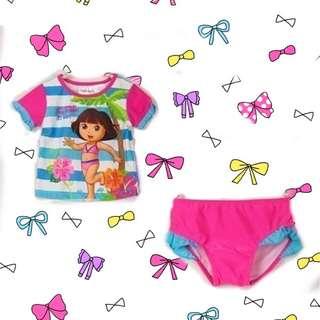 🚚 🧒Dora兒童2T 兩件式 泳衣泳裝
