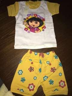 Dora t-shirt and shorts set