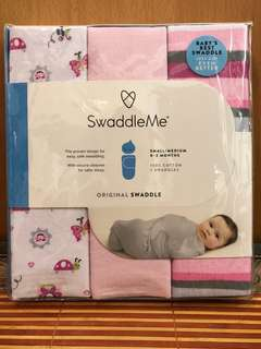SwaddleMe 純棉嬰兒包巾/ 睡袋 (三件裝) - 全新