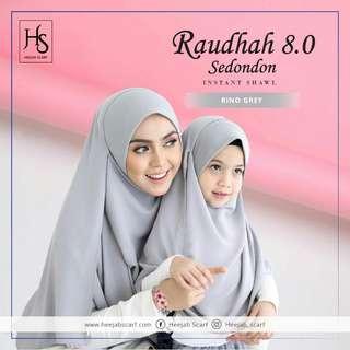 (Preorder) Raudhah Instant Shawl One set