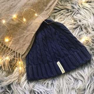 Blue Knit Winter Beanie