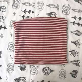 brandy melville red and pale pink striped jenny tube top