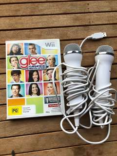 Wii Glee Karaoke. 2x microphones included.