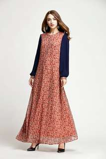 Floral Joint Jubah 86150 CF*restocked*