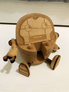 Wood Robot Portable Stand For Cellphone