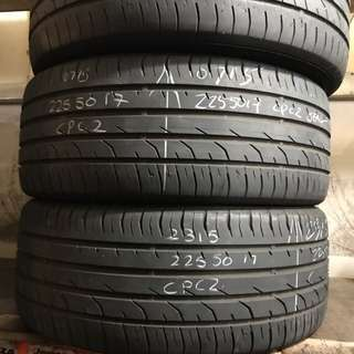 225/50/17 continental seal used tyre $45pc