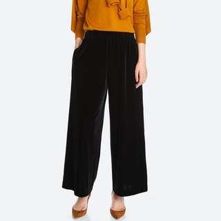 velour velvet wide pants