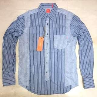 Hugo Boss Orange Casual Shirt Blue Size Medium