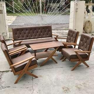 Retro K-leg Teak Sofa set