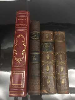 Rare books x 4 pcs printed in 1846, 2824, 1824, ? (