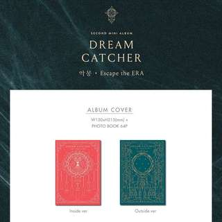 Dream Catcher 2nd Mini Album Escape the Era + Photobook + Gold Card + Photocard + Poster