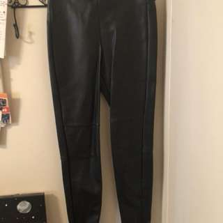 H&M pleather leggings