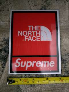 The North Face/Supreme decals