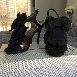 Ribbon/Bow Detail Heels