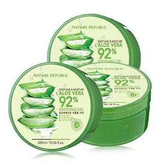 Aloe vera 92% Nature Republic jamin original 100%