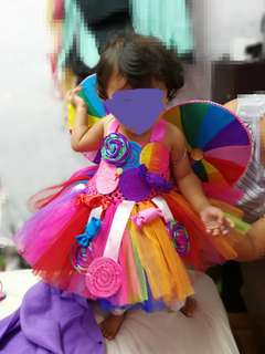 Candy land theme tutu dress