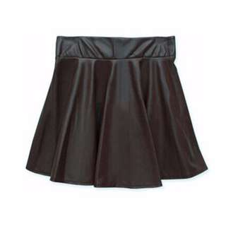 BNWOT TEMT Faux Leather Skirt