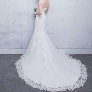 魚尾蕾絲婚紗裙