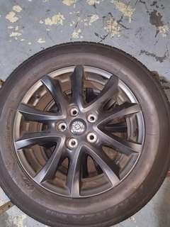 "Origjnal Mazda3  16"" rims(yr oct 2017) include tyres .rims plastic dip to matt black.condition 10/10 no rim rash,tyre 90% .price per pc $100"