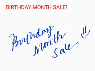Whole Month of May Sale :)