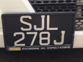 Number Plate for sale .