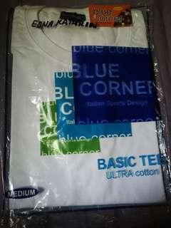 BLUE CORNER WHITE T SHIRT